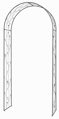 "94""H Metal Garden Arch with Robust and Fine Quality Metal Frame Brand Woodland"