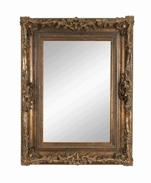 "98506 Wood Mirror 51""H, 39""W- Just A Look Is Enough Brand Woodland"