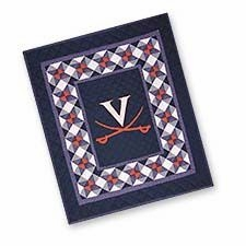 A Quilted Throw for all Virginia State University Alumni, Fans, and Family Brand C&F