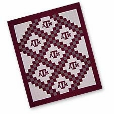A Striking Texas A and M University Quilted Throw Brand C&F
