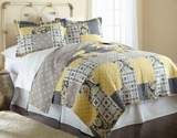 Aaila Full/Queen Size Three Piece Reversible Quilt Set (100% Cotton)