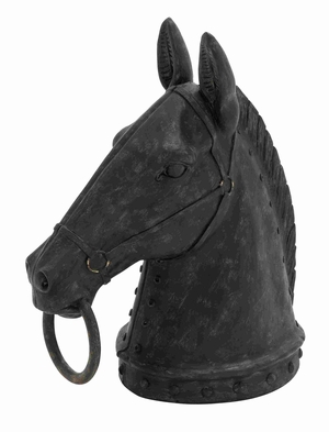 Aberdeen Horse Head Magnificently Carved Enticing Artwork Brand Benzara
