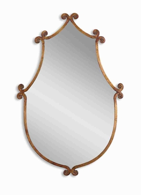 Ablenay Vanity Mirror with Hand Forged Antique Gold Frame Brand Uttermost