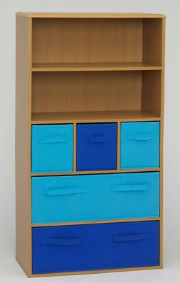 Absolute Customary Styled Boy's Storage Book Case by 4D Concepts