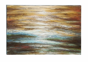 Abstract And Textured Painting of Vivid Lines And Waves Brand Woodland