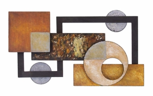 Abstract Metal Wall D�cor, 37 Inch Width, 21 Inch Height Brand Woodland