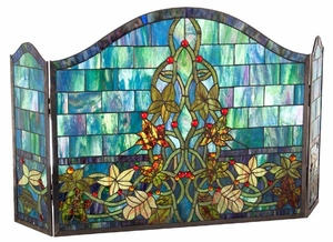 Abstract Patterned Fancy Fireplace Screen by Chloe Lighting
