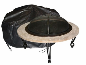 Acerra Fire Pit Vinyl Cover, Heavy-duty and Sparkling Creation by Well Travel Living