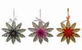 "Acrylic Hanging 10"" Flowers Outdoor Decor - Assorted 4 Colors by Alpine Corp"