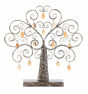 Acrylic Tree Decor - Enchanting Acrylic Tree With Hanging Medallions Brand Woodland