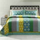 Addison Queen Set; 1-Quilt 90x90 w/2 Shams 21x27