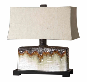 Adelanto Ceramic Table Lamp in Metallic Dark Bronze Brand Uttermost