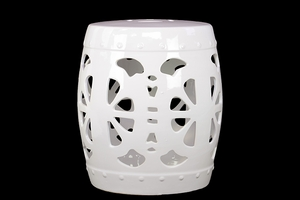 Admirable and Enticing White Garden Stool