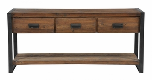Admirable Three Drawers Wooden Bartlett Console Table