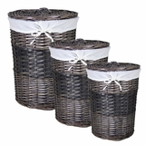 Adorable 3pc Round Willow Hamper by Entrada by Entrada