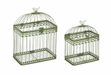 Adorable and Unique Set of 2 Acrylic Bird Cages by Woodland Import