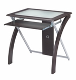 Adorable Computer Desk with Frosted Glass Top by Office Star