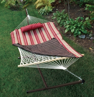 Adorable Cotton Rope Hammock, Stand, Pad and Pillow Combination by Alogma