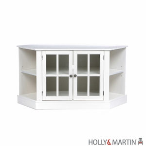Adorable Holly & Martin Parkridge Corner Media Stand by Southern Enterprises