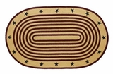 Adorable Liberty Jute Rug Oval Stencil Stars by VHC Brands