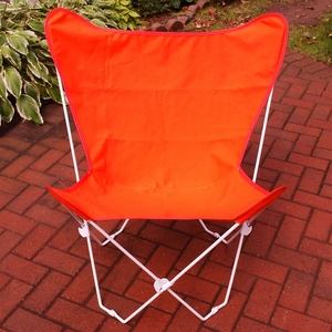 Adorable Orange Fabric Foldable Butterfly Chair by Alogma