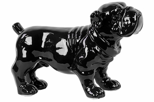 Adorable piece of Ceramic Black Dog