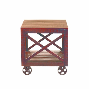 Adorable Solid MangoWood End Table by Yosemite Home Decor