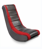 Adult Black w/Red Mesh Racing Stripe Video Rocker Chair by Ace Bayou