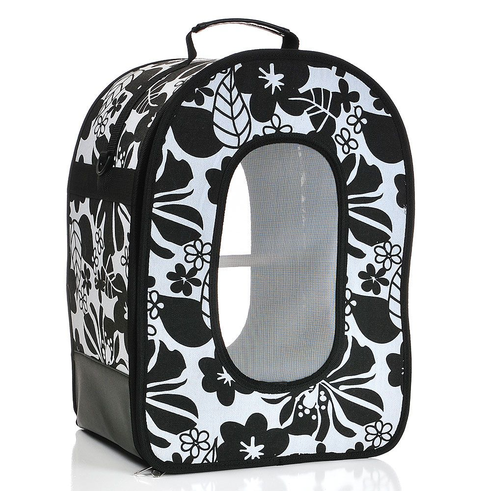 AEC-HB1506L-Black Large Soft Sided Travel Carrier by A and E Cage