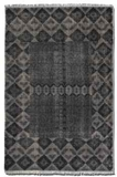 """Aegean 16"""" Hand Knotted Woolen Rug in Weathered Charcoal Brand Uttermost"""