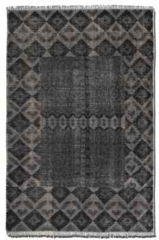 Aegean 6' Hand Knotted Woolen Rug in Weathered Charcoal Brand Uttermost