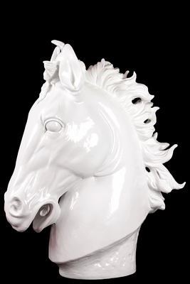 Afghanis Powerful Classy Resin Horse White by Urban Trends Collection