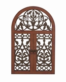Afghanis Stylish Metal Wood Wall Plaque Brand Benzara