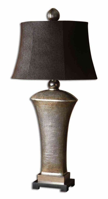 Afton Antique Silver Table Lamp with Aluminum Accents Brand Uttermost