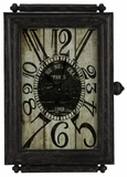 Aged Black Finish Fascinating Charest Clock by Cooper Classics