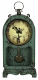 Aged Green Finish Attractive Ruslana Table Clock by Cooper Classics