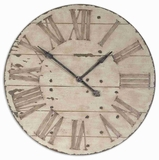 Aged Wall Clock With Crackled Ivory Face And Chestnut Undertones Brand Uttermost