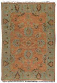 "Akbar 16"" Rug with Egyptian Blue Details and Taupe Accents Brand Uttermost"