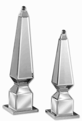 Alanna Style Rooftop Finial With Beveled Polished Mirrors Brand Uttermost