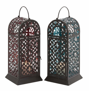 Alaska's Bright Metal Lantern Two Assorted Brand Benzara