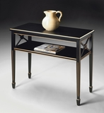 "Alcott Brilliant Black Painted Console Table 34""W by Butler Specialty"