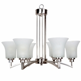 Aldridge Collection Amazing Styled 6 Lights Chandelier Satin Nickel Finish by Yosemite Home Decor