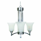 Aldridge Collection Classy Styled Beautiful 3 Lights Chandelier Satin Nickel Finish by Yosemite Home Decor
