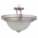 Aldridge Collection Enthrallingly Styled 2 Lights Pendant Satin Nickel Finish by Yosemite Home Decor