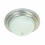 Aldridge Collection Enticing 2 Lights Flush Mount Satin Nickel Finish by Yosemite Home Decor