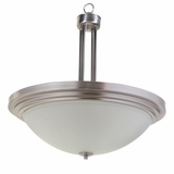 Aldridge Collection Fashionable Piece of 3 Lights Pendant Satin Nickel Finish by Yosemite Home Decor
