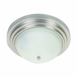 Aldridge Collection Gorgeously Styled 3 Lights Flush Mount Satin Nickel Finish by Yosemite Home Decor
