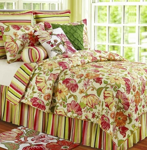 Alessandra Cotton Oversized Floral Queen Quilt Brand C&F