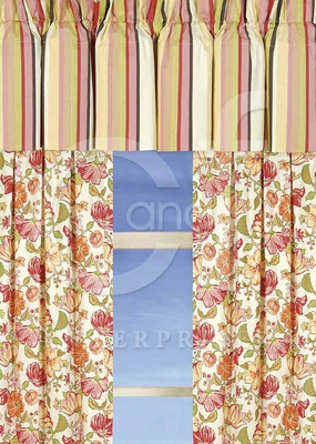 Alessandra Drapery Panel Each 50 x84 Inches Brand C&F