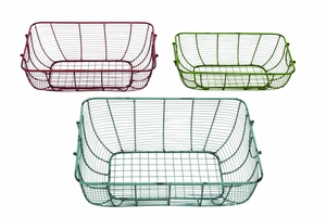 Alicante Aesthetically Designed Wonderful Wire Basket Set Brand Benzara